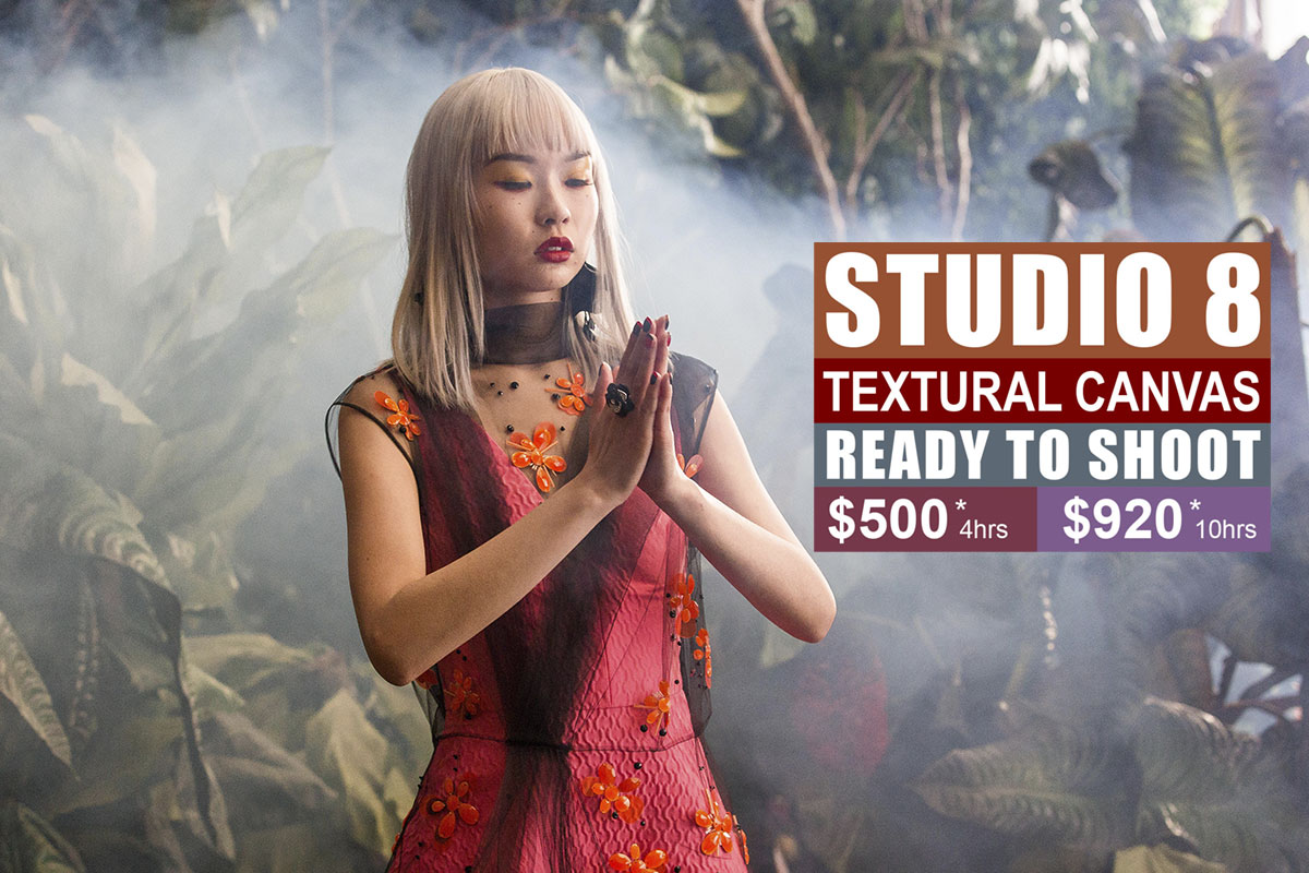 Studio 8 Textural Canvas Photographic Studio Hire in Sydney