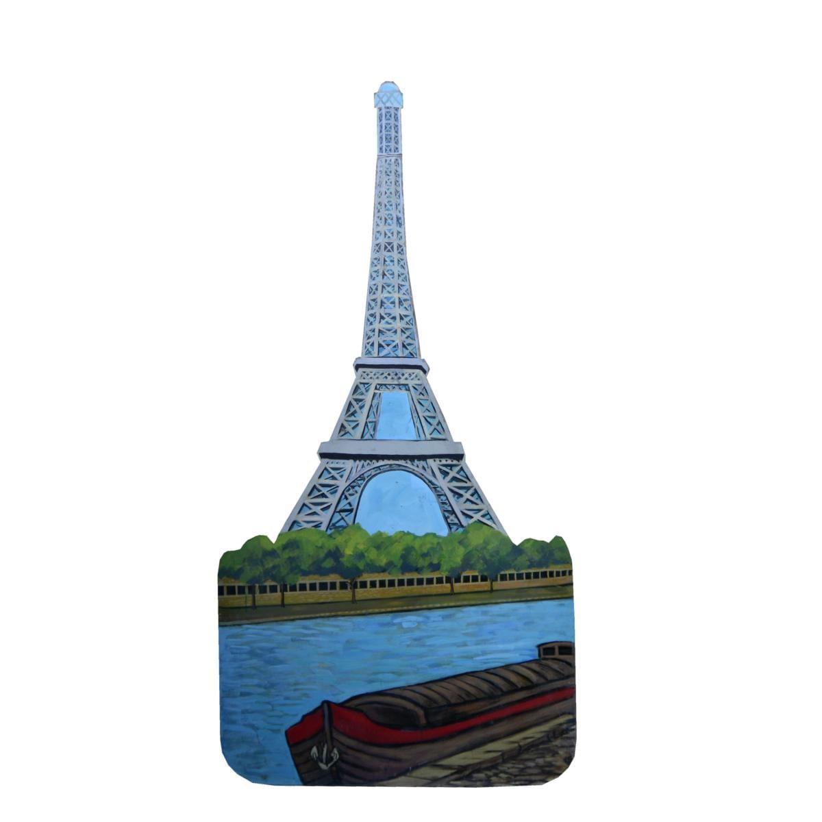 Cutout – Eiffel Tower and the Seine