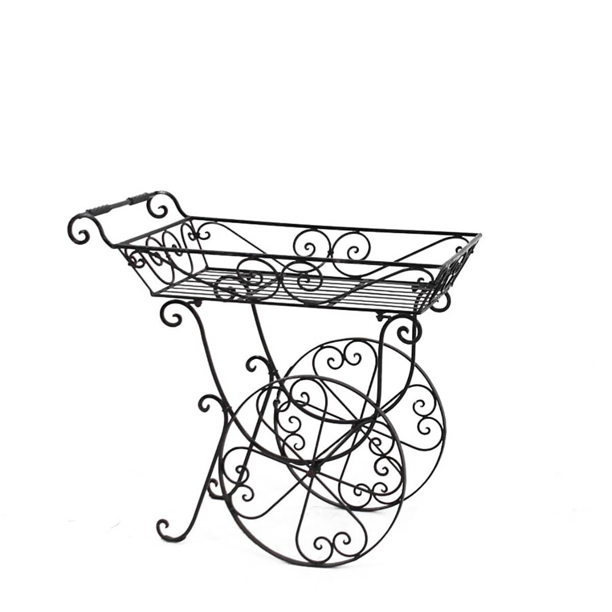 Wrought Iron Flower Cart