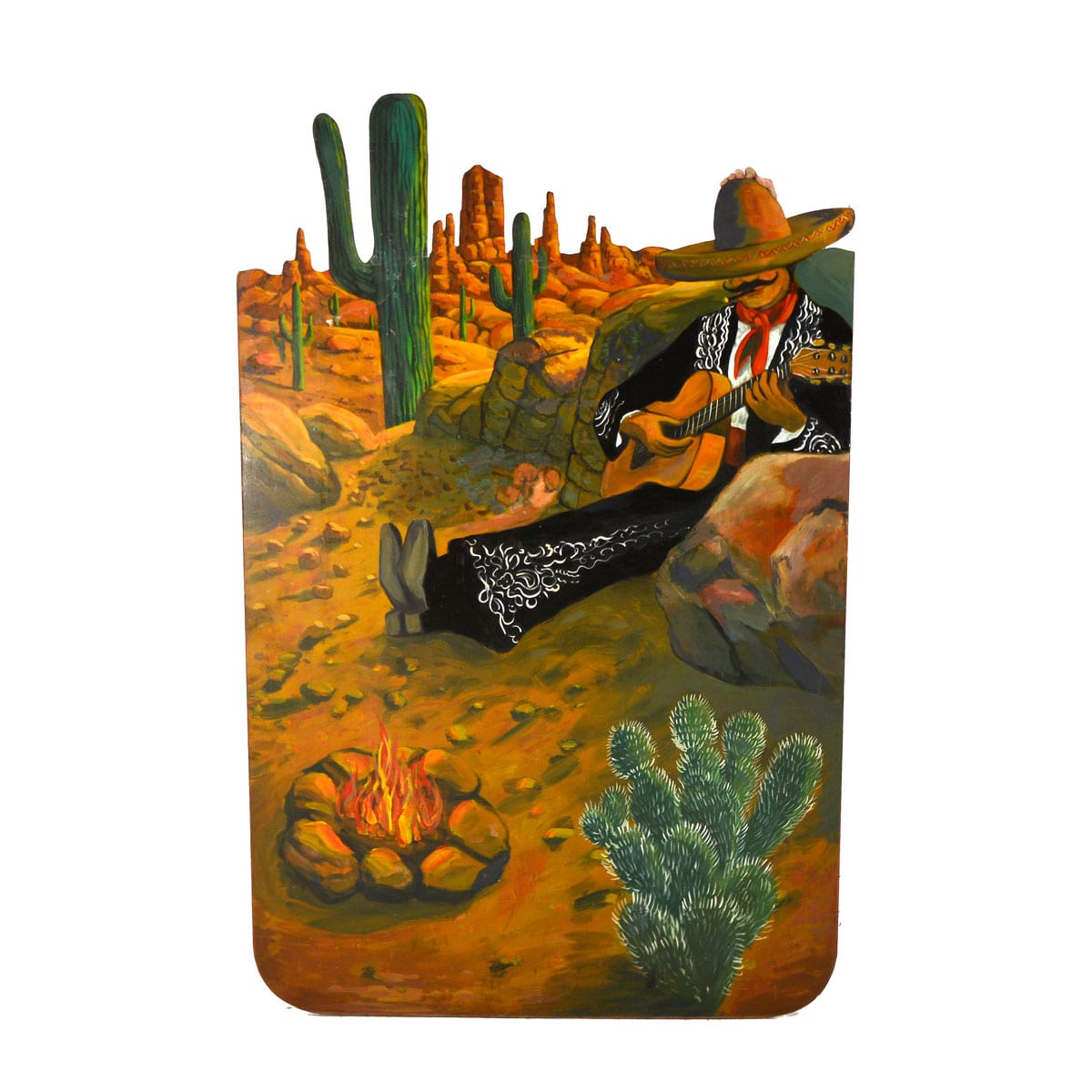 Cutout – Mexican with Guitar