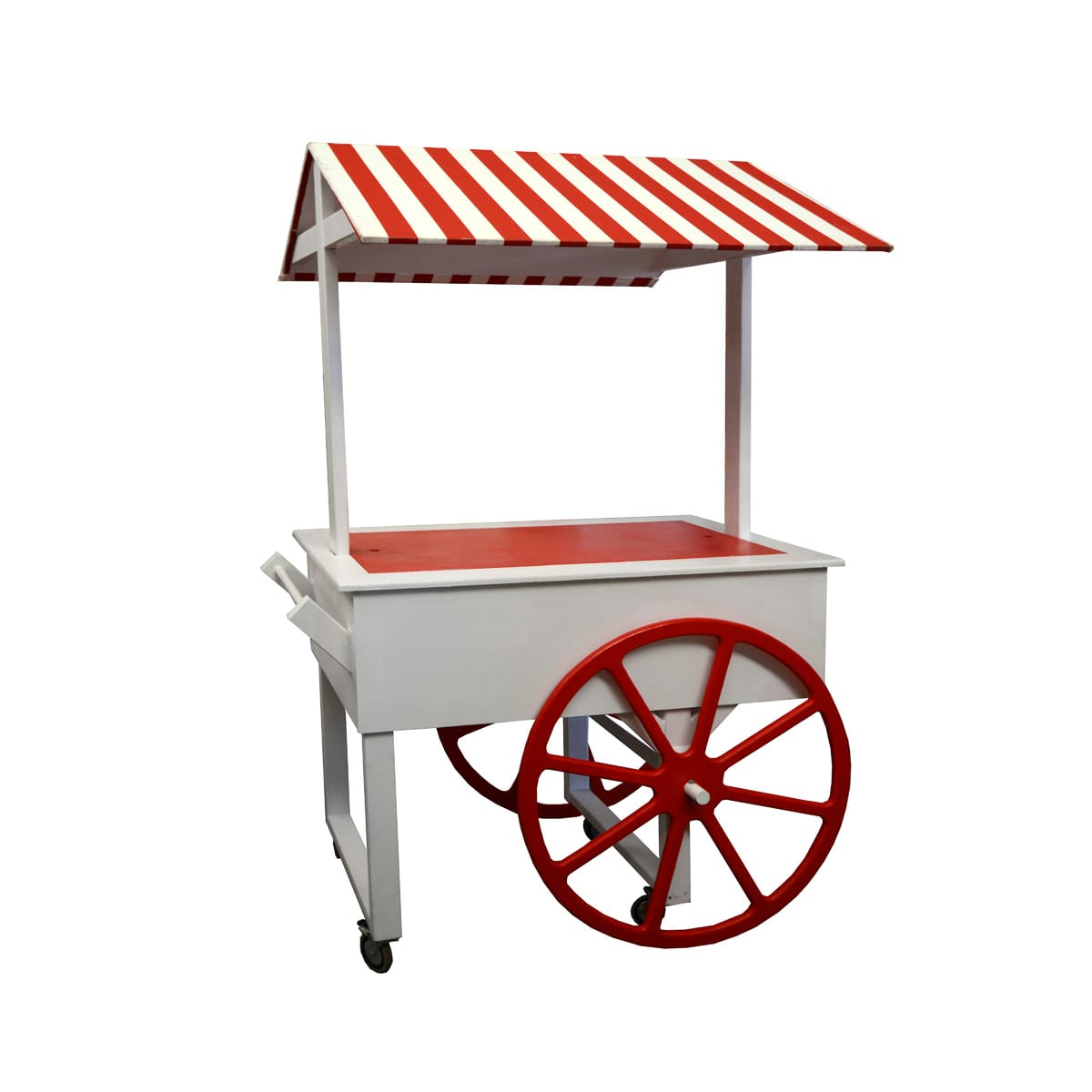 Cart 8 – Red and White Striped Food Cart