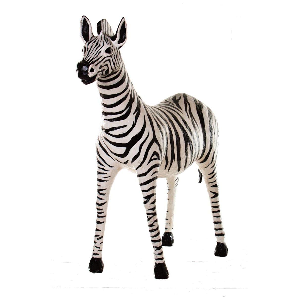 Life-Size Zebra Papier-mâché